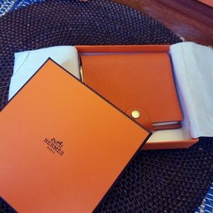 Authentic Hermes Orange Stationary note-pad Box